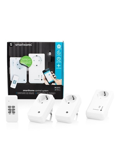 Smartwares Akıllı Ev İç Mekan Kontrol Unitesi Seti Wifi Priz + 2 Kablosuz Priz Renkli